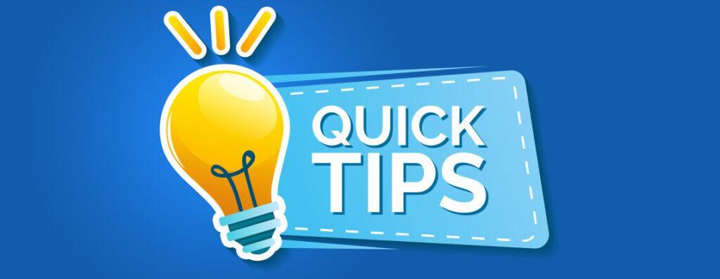 quick tips for social media